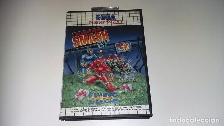 Videojuegos y Consolas: SMASH TV MASTER SYSTEM COMPLETO EN MUY BUEN ESTADO - Foto 2 - 134097734