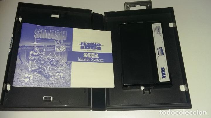 Videojuegos y Consolas: SMASH TV MASTER SYSTEM COMPLETO EN MUY BUEN ESTADO - Foto 3 - 134097734