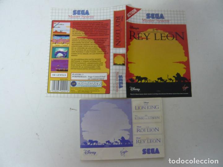 EL REY LEÓN / CARÁTULA Y MANUAL / SEGA MASTER SYSTEM (Juguetes - Videojuegos y Consolas - Sega - Master System)