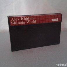 Videojuegos y Consolas: JUEGO SEGA MASTER SYSTEM ALEX KIDD IN SHINOBI WORLD SOLO CARTUCHO PAL R8227. Lote 139514702