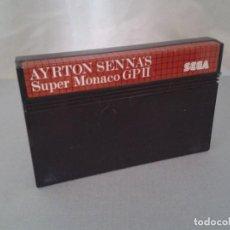 Videojuegos y Consolas: JUEGO SEGA MASTER SYSTEM AYRTON SENNA SUPER MONACO GP II SOLO CARTUCHO PAL R8231. Lote 139514994