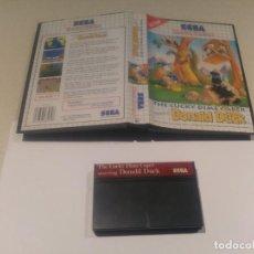 Videojuegos y Consolas: DONALD DUCK SEGA MASTER SYSTEM SIN MANUAL PAL VERSION . Lote 143905074