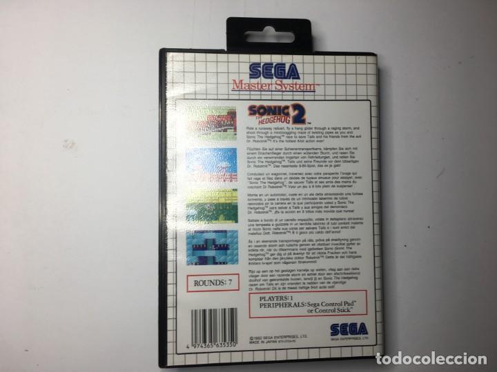 Videojuegos y Consolas: JUEGO SONIC 2 - SEGA MASTER SYSTEM - Foto 2 - 144881322