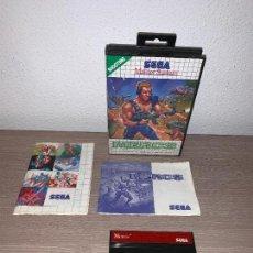 Videojuegos y Consolas: VIDEOJUEGO MERCS - SEGA MASTER SYSTEM - RETRO ORIGINAL DE ÉPOCA 1990 + POSTER. Lote 147788098