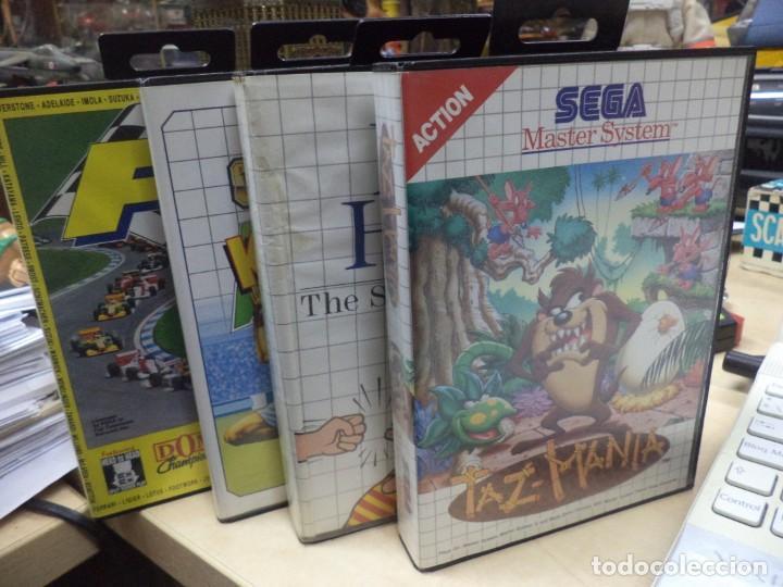 LOTE DE 4 VIDEO JUEGOS SEGA MASTER SYSTEM. (Juguetes - Videojuegos y Consolas - Sega - Master System)