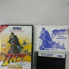 Videojuegos y Consolas: INDIANA JONES Y LA ULTIMA CRUZADA - MASTER SYSTEM. Lote 151875158