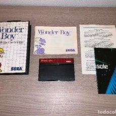 Videojuegos y Consolas: WONDER BOY - SEGA MASTER SYSTEM - COMPLETO PAL + POSTERS. Lote 151973846