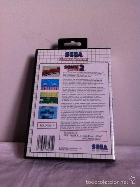 Videojuegos y Consolas: SONIC 2. THE HEDGEHOG. MASTER SYSTEM - Foto 2 - 153813492