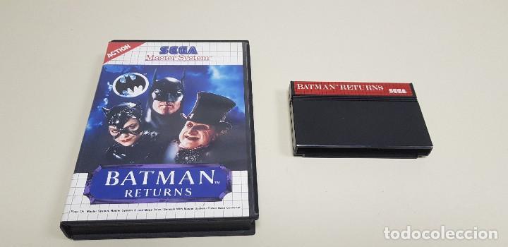J- BATMAN RETURNS SEGA MASTER SYSTEM 1993 (Juguetes - Videojuegos y Consolas - Sega - Master System)