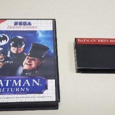 Videojuegos y Consolas: J- BATMAN RETURNS SEGA MASTER SYSTEM 1993 . Lote 155039466