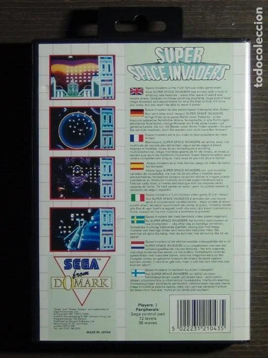 Videojuegos y Consolas: JUEGO SEGA MASTER SYSTEM SUPER SPACE INVADERS - Foto 2 - 223296956