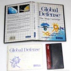 Videojuegos y Consolas: GLOBAL DEFENSE MASTER SYSTEM SEGA VIDEOJUEGO. Lote 158338638