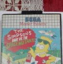 Videojuegos y Consolas: SEGA THE SIMPSONS BART VS THE SPACE MUTANTS MASTER MASTERSYSTEM MASTER SYSTEM. Lote 160518906