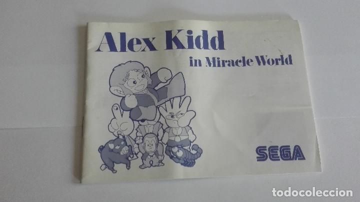MANUAL INSTRUCCIONES ALEX KIDD IN MIRACLE WORLD CASTELLANO MASTER SYSTEM (Juguetes - Videojuegos y Consolas - Sega - Master System)