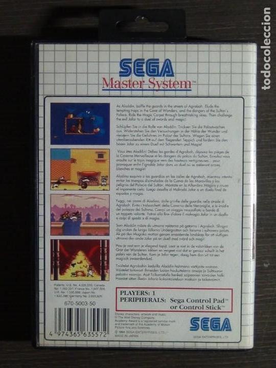 Videojuegos y Consolas: Juego Disneys Aladdin Sega Master System - Aladin - Foto 6 - 161888078