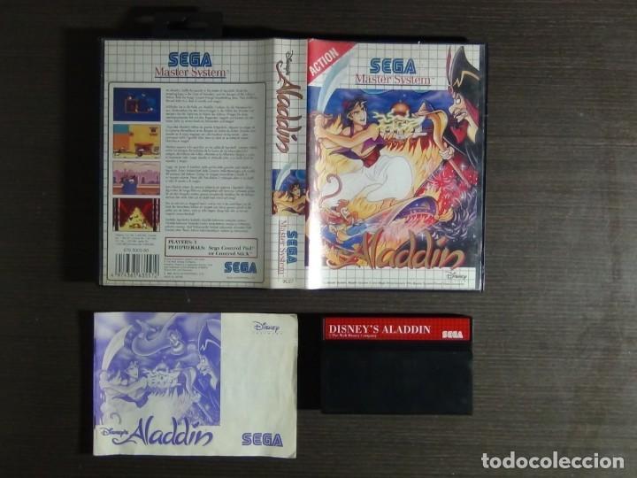 Videojuegos y Consolas: Juego Disneys Aladdin Sega Master System - Aladin - Foto 8 - 161888078