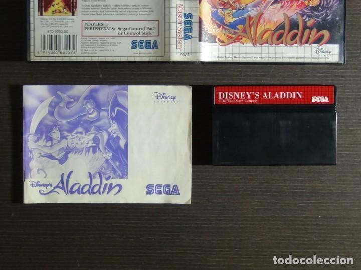 Videojuegos y Consolas: Juego Disneys Aladdin Sega Master System - Aladin - Foto 9 - 161888078