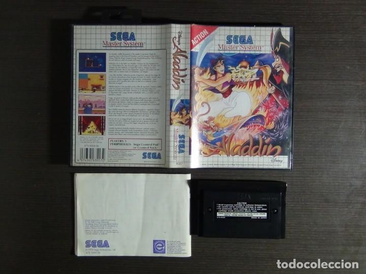 Videojuegos y Consolas: Juego Disneys Aladdin Sega Master System - Aladin - Foto 10 - 161888078