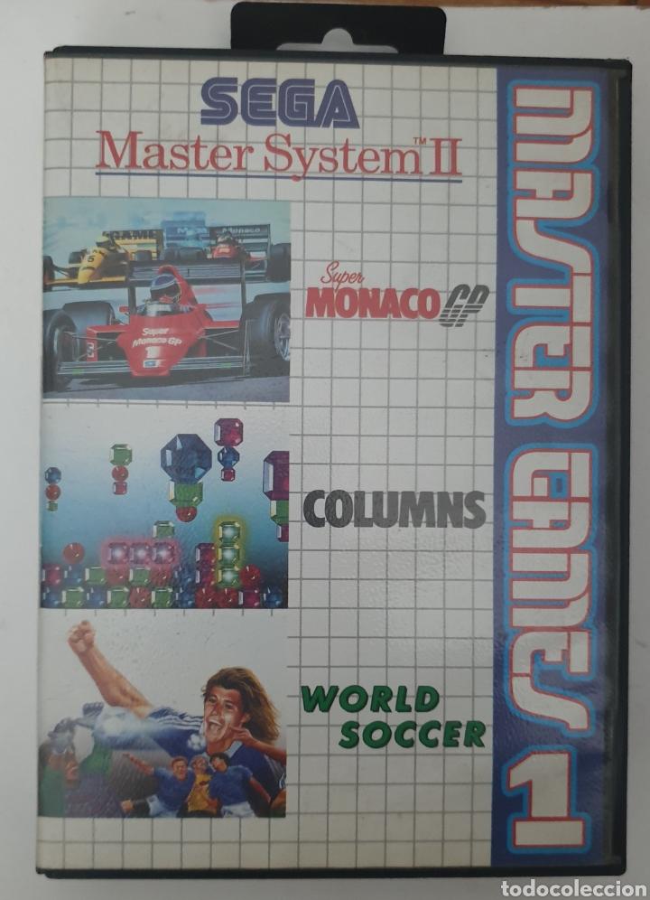 SUPER MÓNACO GP. COLUMNS. WORLD SOCCER (Juguetes - Videojuegos y Consolas - Sega - Master System)