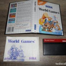 Videojuegos y Consolas: SEGA MASTER SYSTEM WORLD GAMES PAL ESP COMPLETO. Lote 166422698