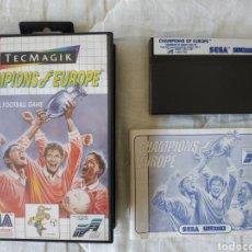 Videojuegos y Consolas: CHAMPIONS EUROPE MASTER SYSTEM. Lote 168955826