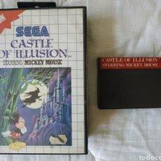 Videojuegos y Consolas: CASTLE OF ILLUSION MASTER SYSTEM. Lote 168961918