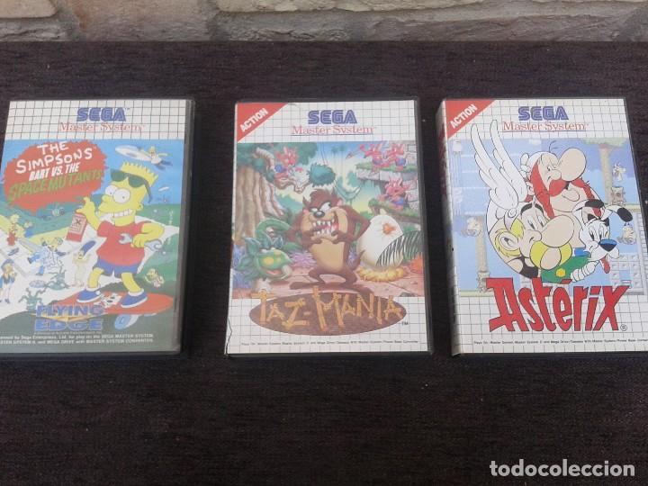JUEGOS TAZ-MANIA , ASTERIX Y THE SIMPSON DE SEGA (Juguetes - Videojuegos y Consolas - Sega - Master System)