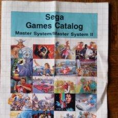 Videojuegos y Consolas: FOLLETO LANZAMIENTO PUBLICITARIO SEGA - MASTER SYSTEM, GAME GEAR , MEGA DRIVE -. Lote 171808567