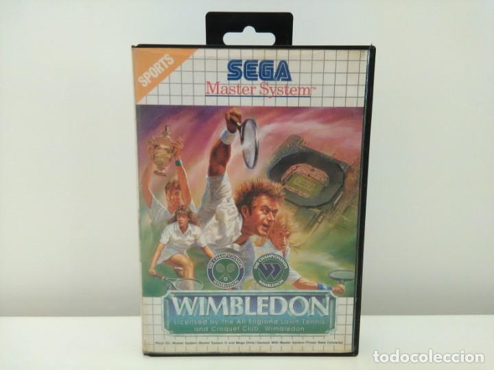 JUEGO WIMBLEDON SEGA MASTER SYSTEM (Juguetes - Videojuegos y Consolas - Sega - Master System)
