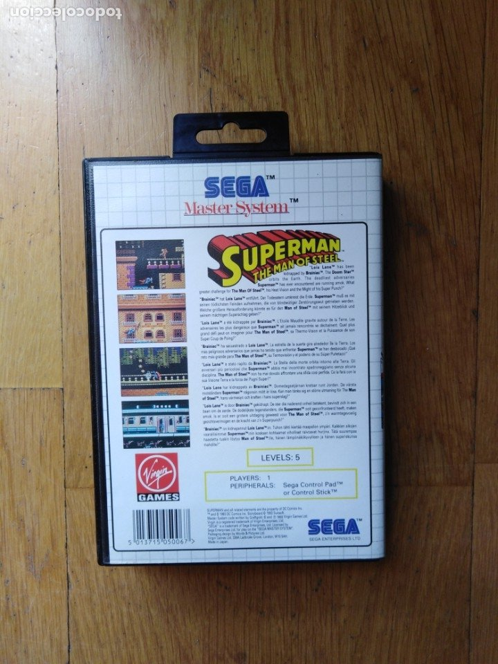 Videojuegos y Consolas: Juego Master system Superman - Foto 2 - 174048013