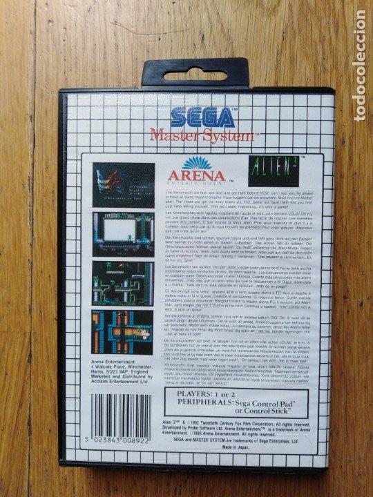 Videojuegos y Consolas: Juego Master system Alien - Foto 2 - 174048090