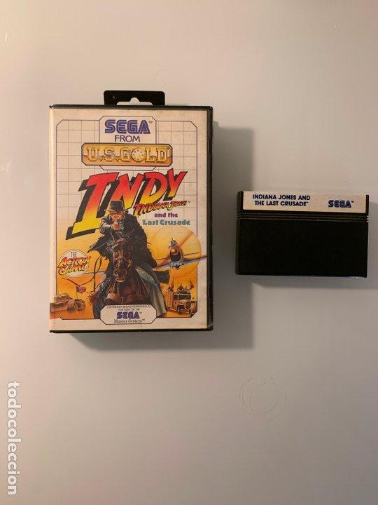 INDY - LAST CRUSADE - JUEGO DE INDIANA JONES PARA LA SEGA MASTER SYSTEM - CON CAJA (Juguetes - Videojuegos y Consolas - Sega - Master System)
