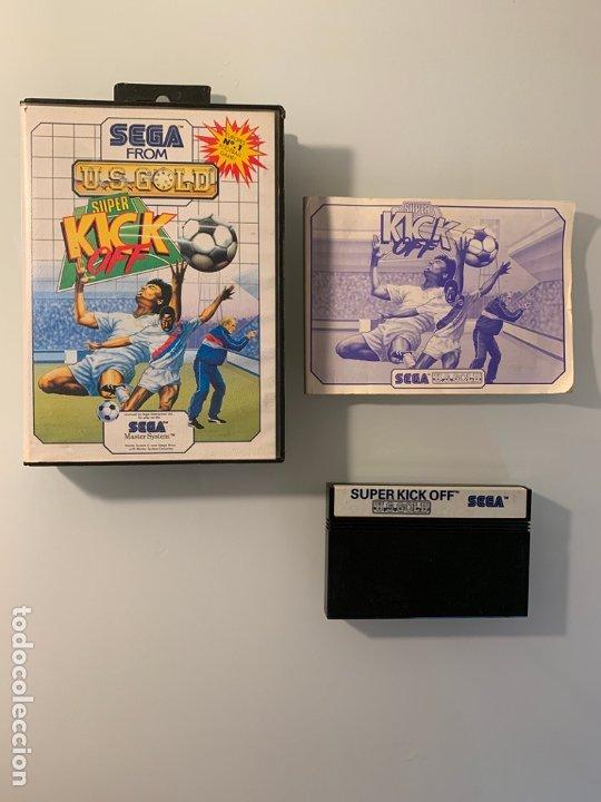 KICK OFF PARA LA SEGA MASTER SYSTEM - CON CAJA Y MANUAL DE INSTRUCCIONES (Juguetes - Videojuegos y Consolas - Sega - Master System)