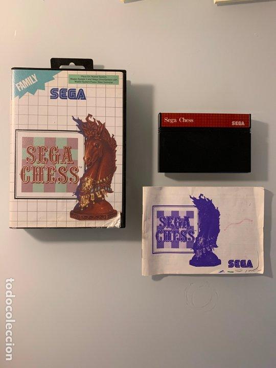 SEGA CHESS PARA LA SEGA MASTER SYSTEM - CON CAJA Y MANUAL DE INSTRUCCIONES (Juguetes - Videojuegos y Consolas - Sega - Master System)