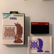Videojuegos y Consolas: SEGA CHESS PARA LA SEGA MASTER SYSTEM - CON CAJA Y MANUAL DE INSTRUCCIONES. Lote 174216828