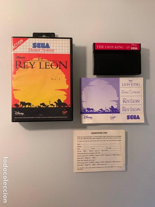REY LEON - THE LION KING - PARA LA SEGA MASTER SYSTEM - CON CAJA Y MANUAL DE INSTRUCCIONES (Juguetes - Videojuegos y Consolas - Sega - Master System)