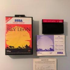 Videojuegos y Consolas: REY LEON - THE LION KING - PARA LA SEGA MASTER SYSTEM - CON CAJA Y MANUAL DE INSTRUCCIONES. Lote 174216898