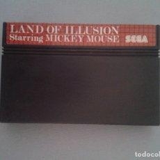 Videojuegos y Consolas: SEGA MASTER SYSTEM LAND OF ILLUSION STARRING MICKEY MOUSE SOLO CARTUCHO PAL R9343. Lote 177572618
