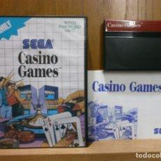 Videojuegos y Consolas: SEGA MASTER SYSTEM CASINO GAMES. Lote 181987306
