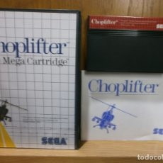 Videojuegos y Consolas: SEGA MASTER SYSTEM CHOPLIFTER. Lote 181987597