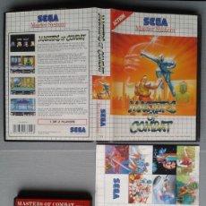 Videojuegos y Consolas: SEGA MASTER SYSTEM MASTERS OF COMBAT BOXED CIB VERY GOOD CONDITION RARE++! R9587. Lote 182370362