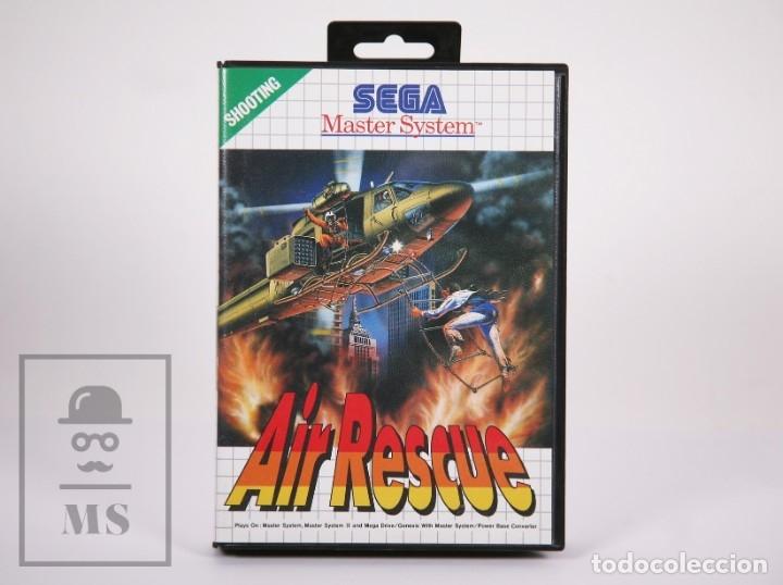 VIDEOJUEGO PARA CONSOLA MASTER SYSTEM DE SEGA - AIR RESCUE - CON CAJA Y FOLLETOS - AÑO 1992 (Juguetes - Videojuegos y Consolas - Sega - Master System)