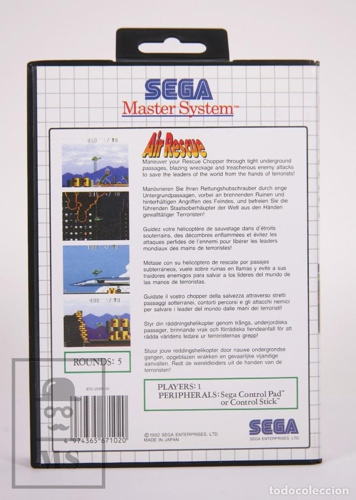 Videojuegos y Consolas: Videojuego para Consola Master System de Sega - Air Rescue - Con Caja y Folletos - Año 1992 - Foto 5 - 182498933