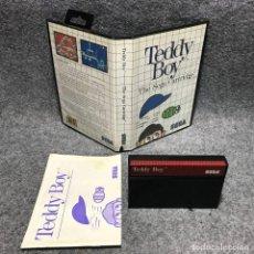 Videojuegos y Consolas: TEDDY BOY SEGA MASTER SYSTEM. Lote 187441486
