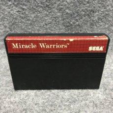 Videojuegos y Consolas: MIRACLE WARRIORS SEGA MASTER SYSTEM. Lote 187441520