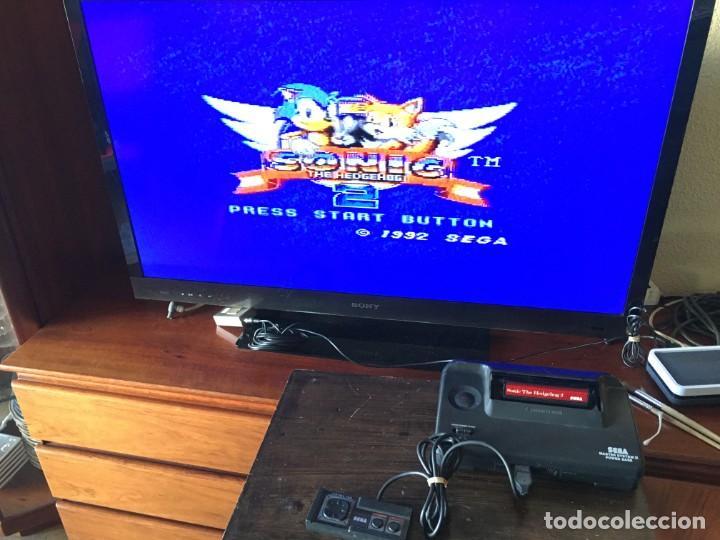 Videojuegos y Consolas: CONSOLA SEGA MASTER SYSTEM II - JUEGO SONIC + SONIC 2 - Foto 2 - 188732530