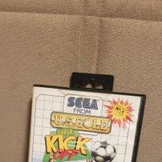 Videojuegos y Consolas: SUPER KICK OFF SEGA MASTERSYSTEM. Lote 190044012