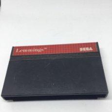 Videojuegos y Consolas: MASTERSYSTEM LEMMINGS JUEGO SOLO. Lote 193317740