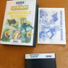 Videojuegos y Consolas: IMPOSSIBLE MISSION SEGA MÁSTER SYSTEM. Lote 193913123