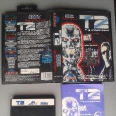 Videojuegos y Consolas: SEGA MASTER SYSTEM T2 THE ARCADE GAME CAJA Y MANUAL COMPLETO CIB BOXED PAL R10038. Lote 195184983